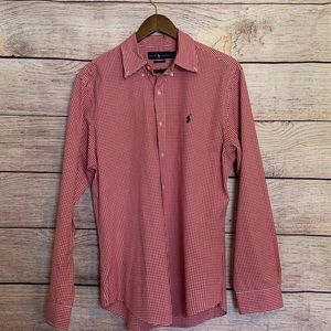 Ralph Lauren slim fit long sleeve button up Large